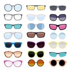 Hipster Summer Sunglasses Fashion Glasses vector