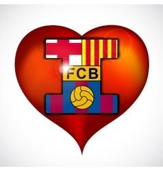 I love fc barcelona vector image