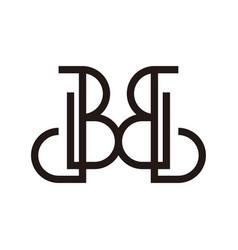 Initial logo letter b for business vector