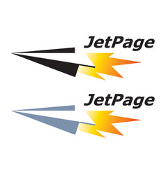 jet page paper airplane logo template vector image