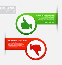 Labels with thumb up and thumb down vector image