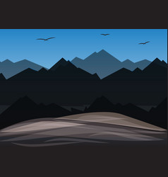 Landscape mountain vector