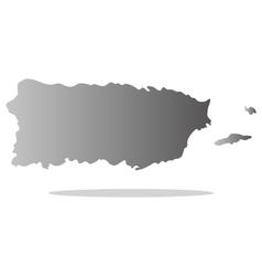 map puerto rico vector image