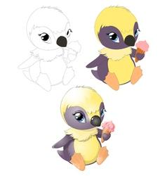 pingvin2 vector image