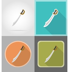 pirate flat icons 02 vector image vector image