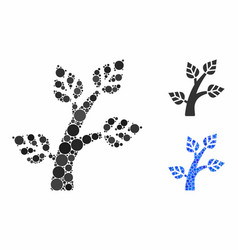 plant tree composition icon round dots vector image