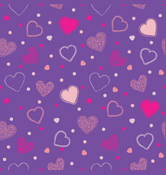 proton purple valentine seamless pattern vector image