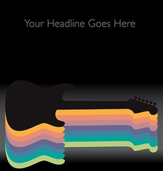 Rainbow Guitar vector image