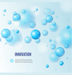 realistic detailed 3d molecule and innovation vector image