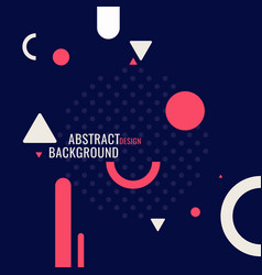 retro abstract geometric background poster vector image