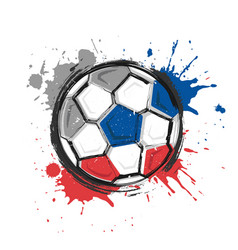 Russia football team symbol realistic watercolor vector