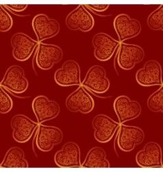 Seamless Pattern Golden Clover vector image