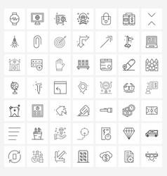Set 49 simple line icons valentine handbag vector