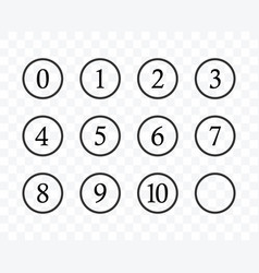 Set number in circle flat design style vector