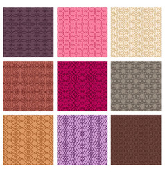 Set of colored patterns vector