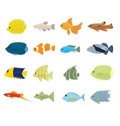 Set tropical fish vector