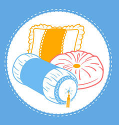 Shapes cushion set icon vector