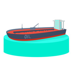 Ship tank icon cartoon style vector