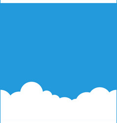 simple sky and clouds horizontal seamless vector image