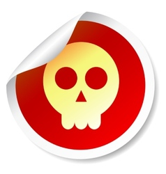 Skull round sticker vector