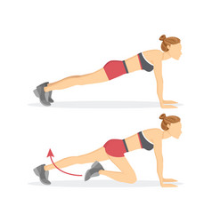 Slow climbers exercise tabata vector