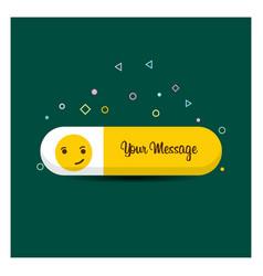smiley emoji icon design vector image