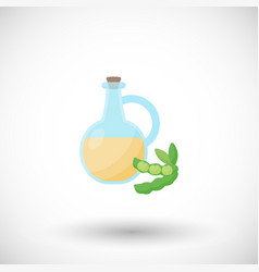 soy oil flat icon vector image