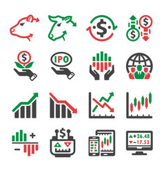 stock icon vector image