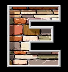 stone letter E vector image