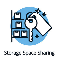 Storage space sharing economy concept black vector