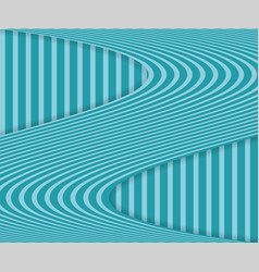 striped background with wavy stripe and shadow vector image