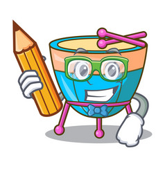 Student cartoon timpani in the orchestra group vector
