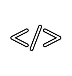 symbol code black color icon vector image