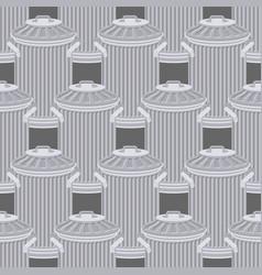 trash can seamless pattern wheelie bin background vector image