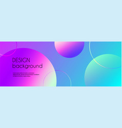 trendy long banner with 3d spheres vector image