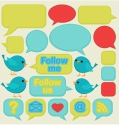 Twitter social media ui vector