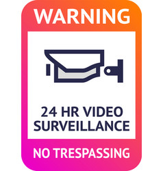Video surveillance 24hr cctv poster for print vector