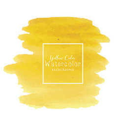 yellow abstract watercolor background vector image