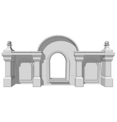 architectural roof element vector image vector image