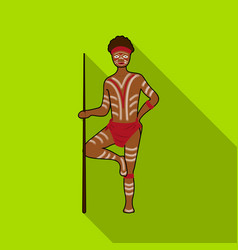 astralian aborigine icon in flat style isolated on vector image vector image