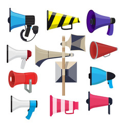 different loud speakers symbols for announce vector image
