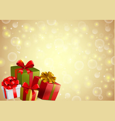 festive backgroung with gifts vector image