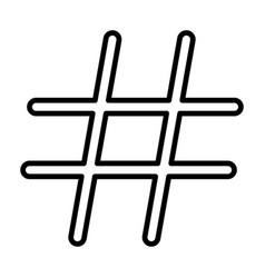 hashtag black color icon vector image