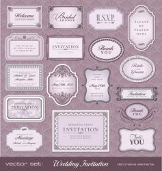 invitation design elements vector image vector image