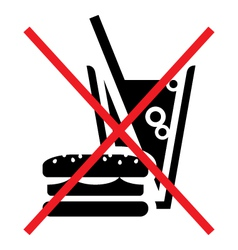 No fast food vector image