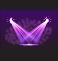 Purple spotlights vector