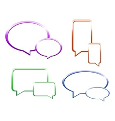 Set of glossy speech bubbles vector image