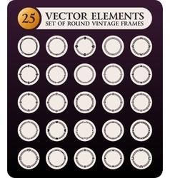 Vintage round frames set Calligraphic design vector image vector image