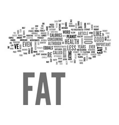 what s the truth about fat text word cloud concept vector image vector image