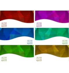 Abstract banners collection vector image